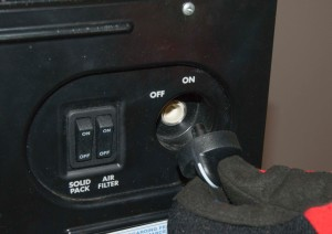 PHOTO: Remove the control knob.