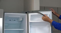How to replace a press-in door gasket in a side-by-side refrigerator
