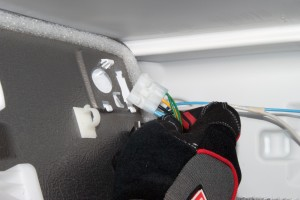 PHOTO: Disconnect the ice maker wire harness.