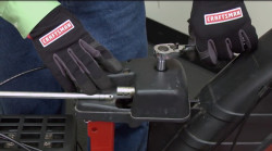 Snowblower chute won't turn: troubleshooting chute control and gearbox problems video