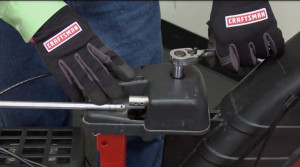 Snowblower chute won't turn: troubleshooting chute control and gearbox problems video.