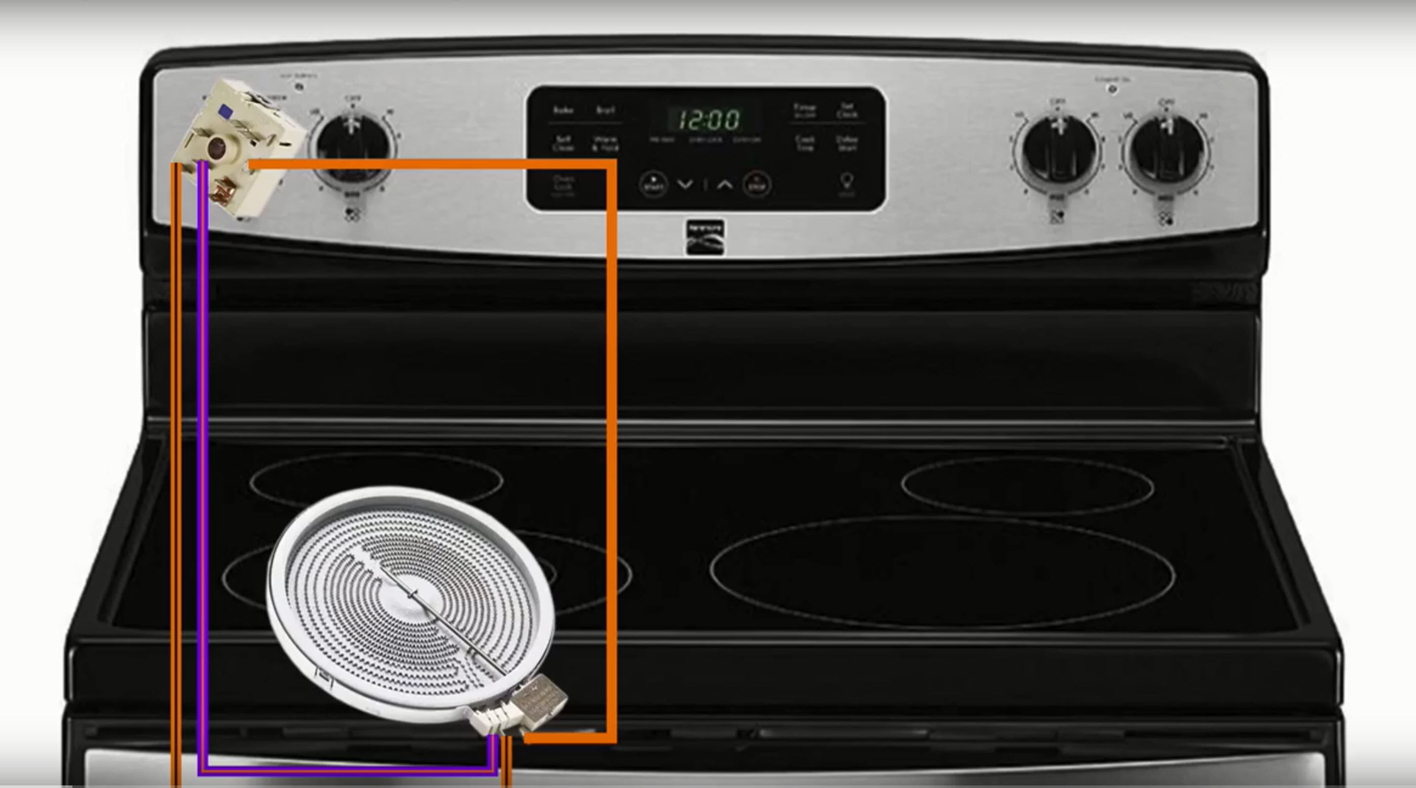 How to replace a range hidden bake element | Repair guide Kenmore Range Wiring Diagram on