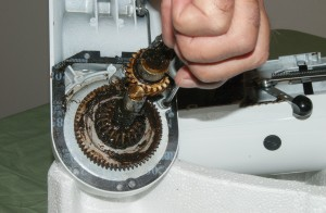 PHOTO: Remove the screws and pull off the worm gear.