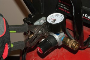 Reinstall the pressure regulator.