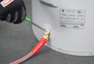 Close the drain valve.