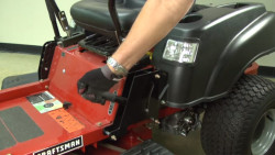 How to check the safety interlock circuits on a zero-turn lawn tractor