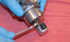 Remove the fuel solenoid valve.