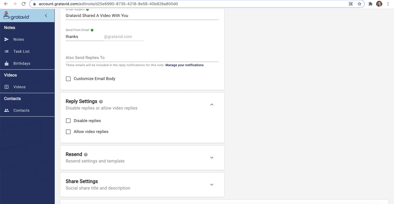 reply settings