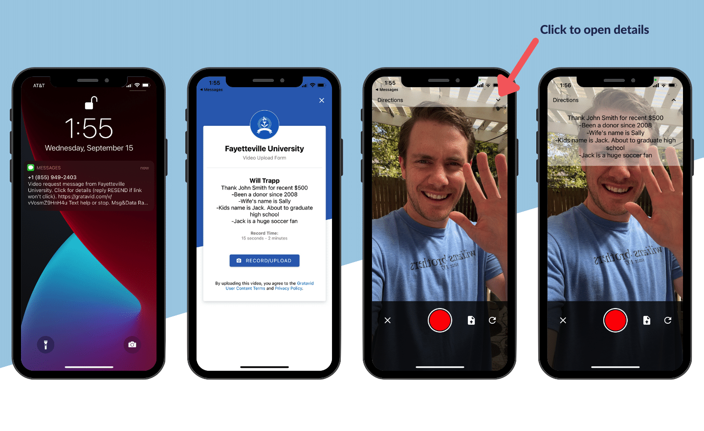 Gratavid app teleprompter screenshots