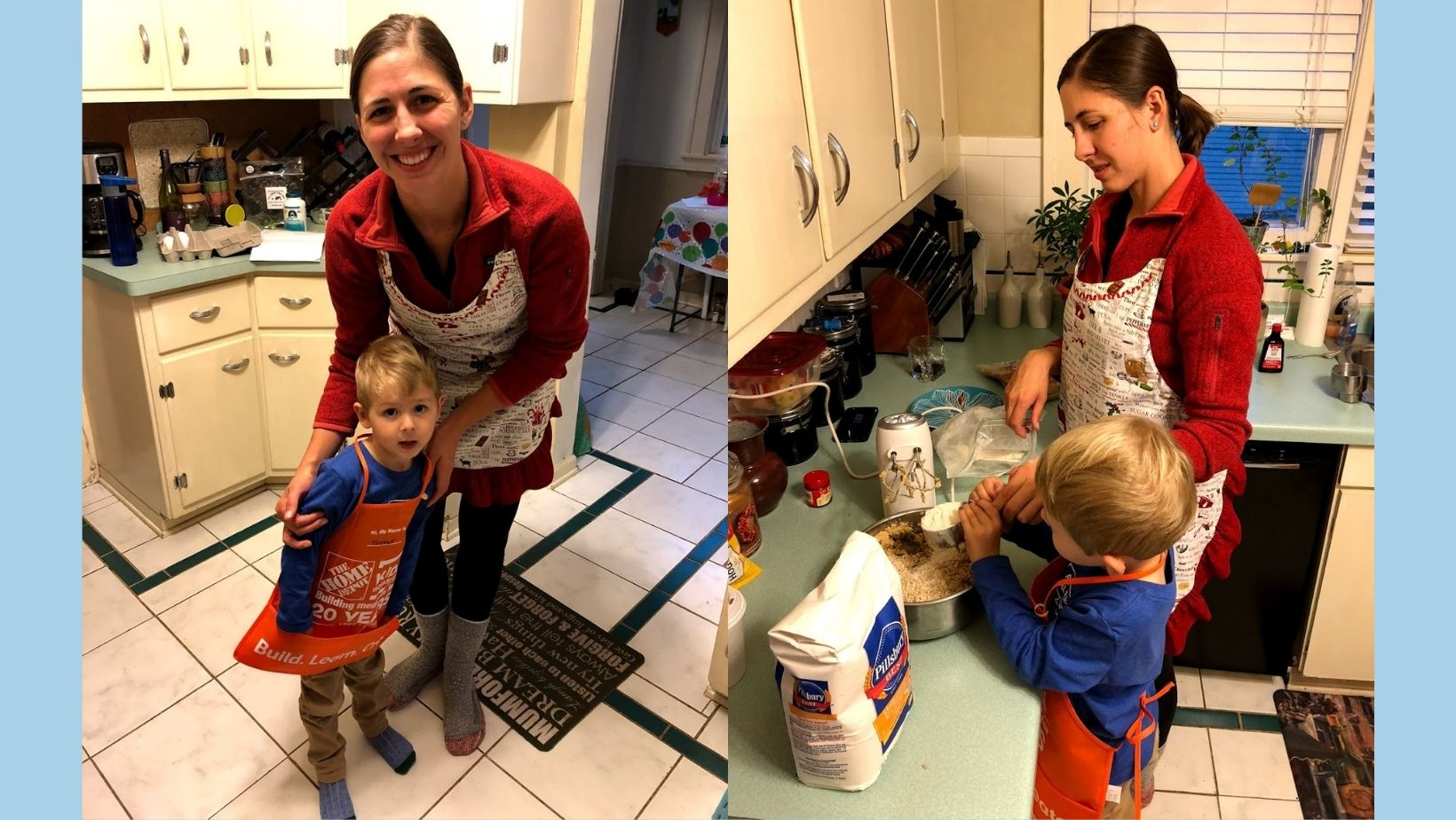 Emily and Arthur make cookies