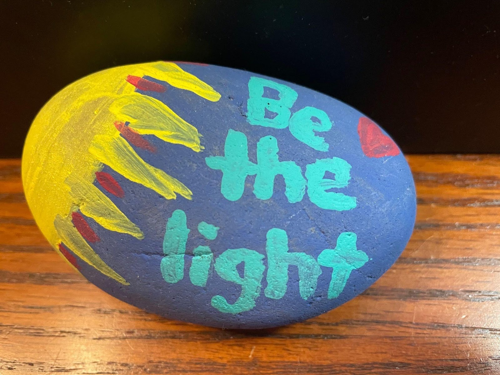 Painted rock be the light