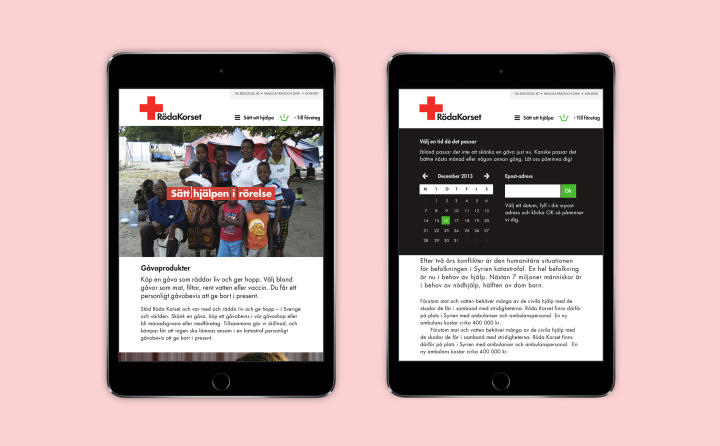 Swedish Red Cross - Idea image