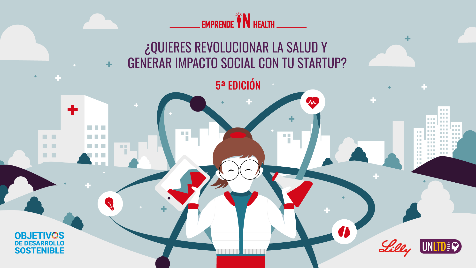 Cartel de Emprende in Health V edición