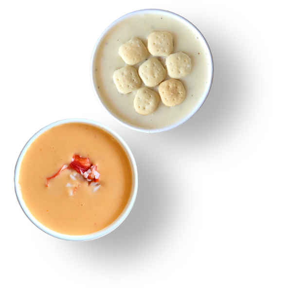 Lobster Bisque & New England Clam Chowder