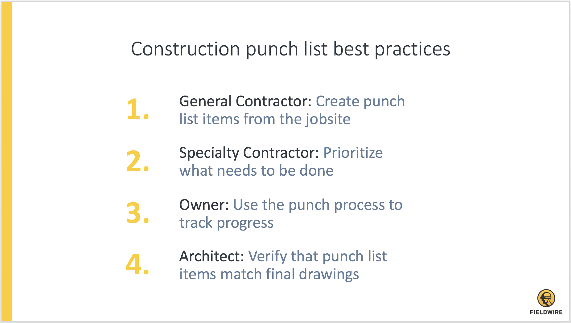 punch list graph