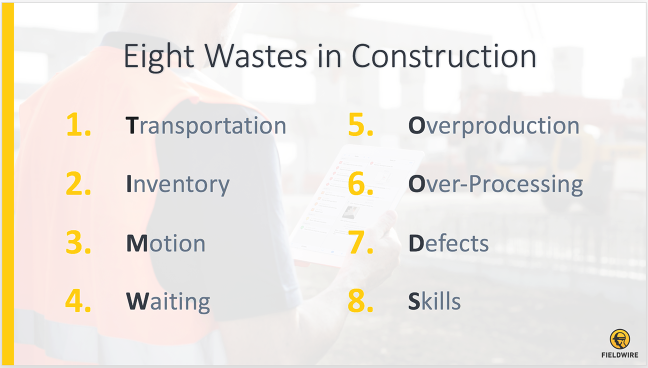 eight wastes in construction