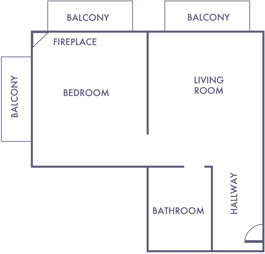 Ocean Front Suite Floorplan
