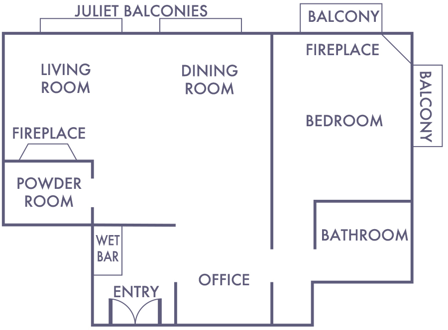Pacific View Suite Floorplan