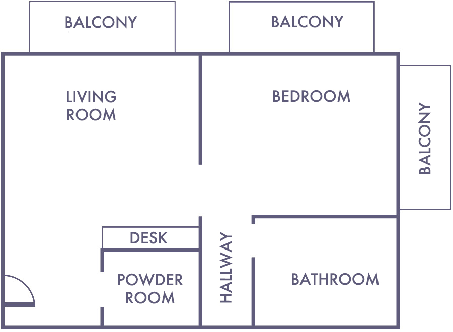 Ocean View Suite Floorplan