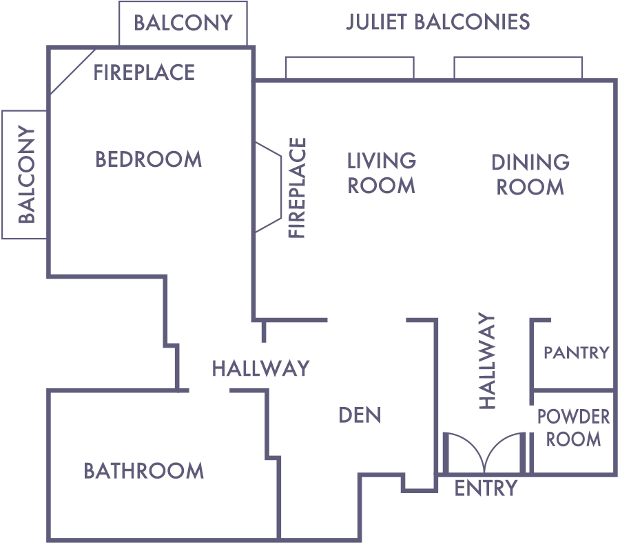 Beach House Suite Floorplan