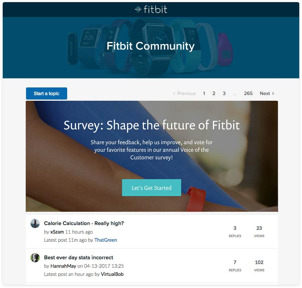 Customer community survey