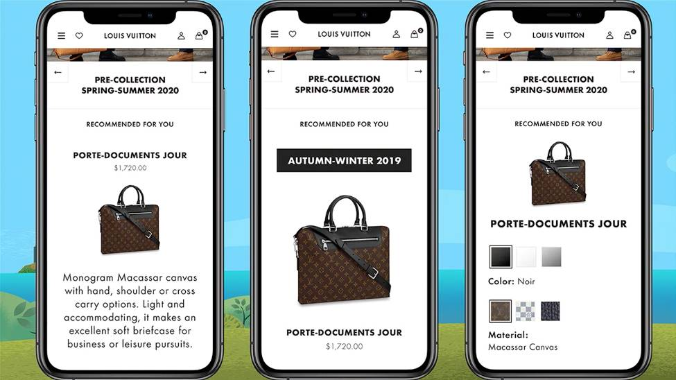 Louis Vuitton personalized email marketing cx dreamforce 2019