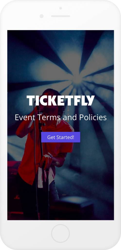 Ticketfly Event Terms and Policies