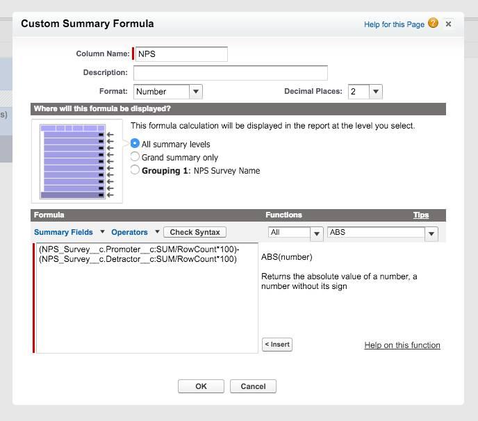 salesforce net promoter score calculation