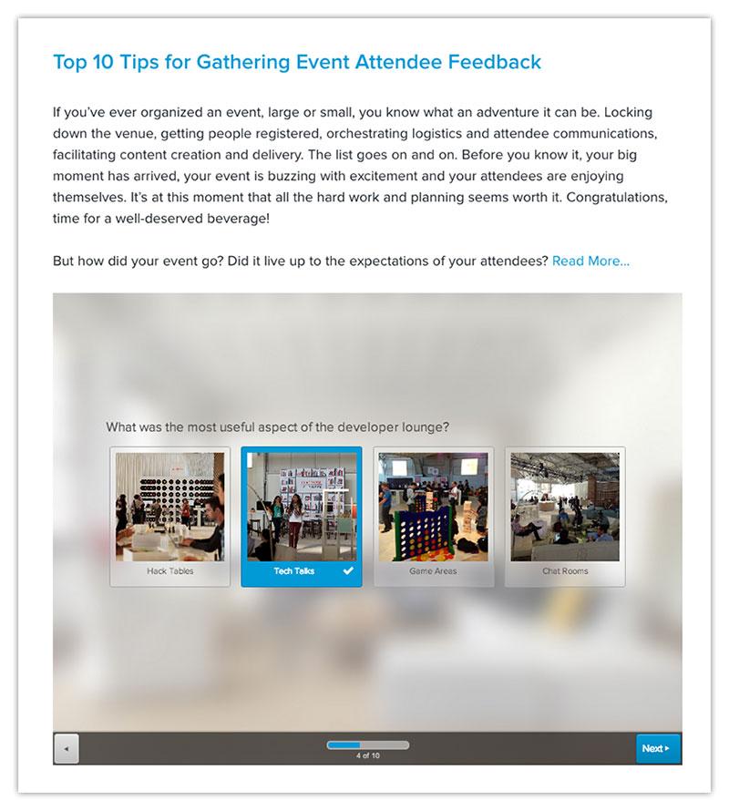 embed surveys in blog posts - distribute online surveys