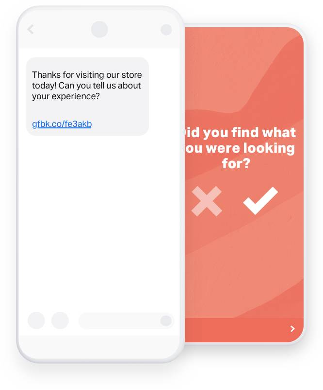 Salesforce CX Program SMS surveys GetFeedback