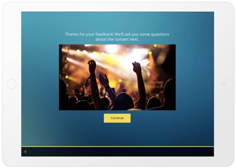 GetFeedback - Section Break example - ipad - survey question types