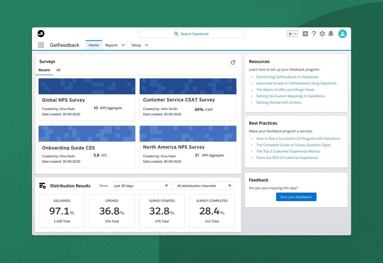 new GetFeedback app for Salesforce