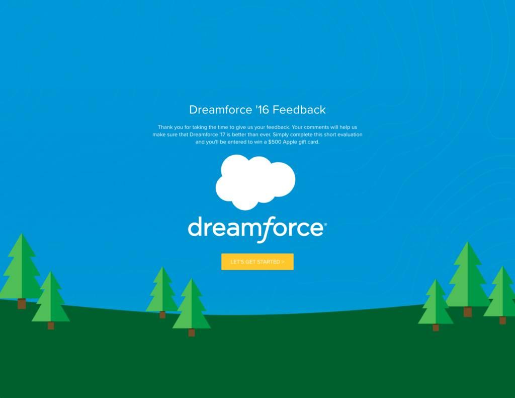 post-event surveys - Dreamforce example