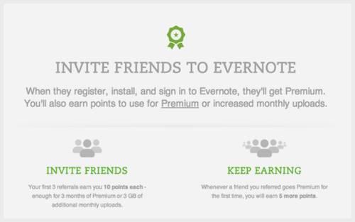 Evernote rewards loyal customers