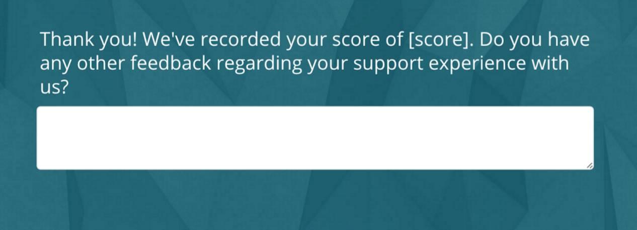CSAT survey advanced logic