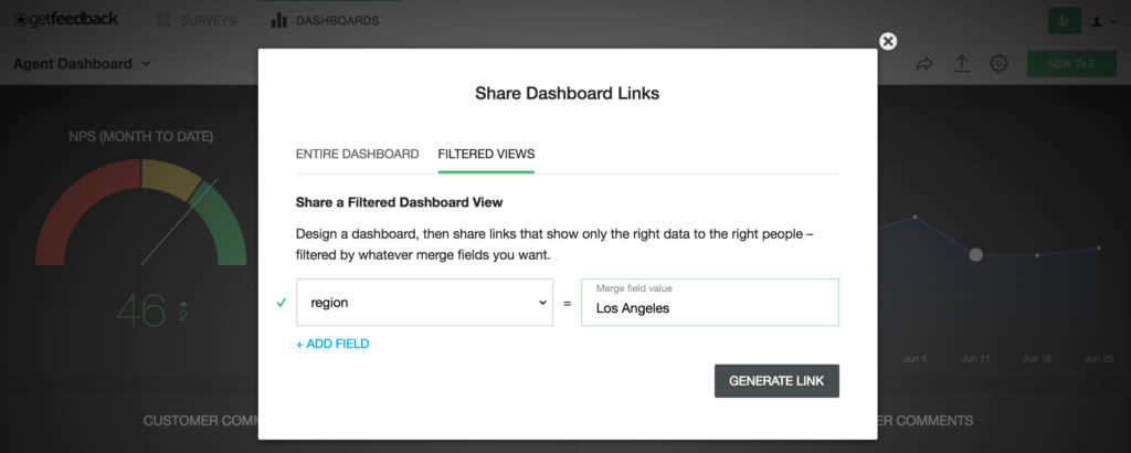 Dashboard filtering - add filter