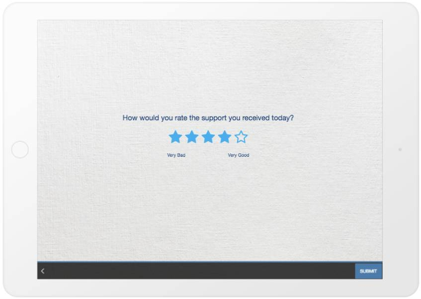 GetFeedback rating example - ipad - survey question types