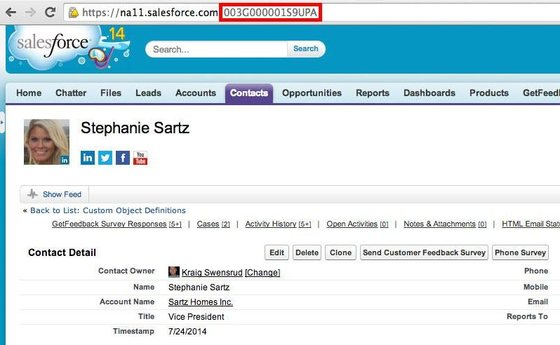 Salesforce contact example - CSAT with Salesforce