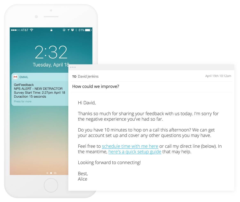custom notification email