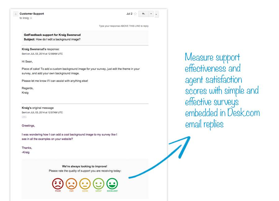 getfeedback for email replies