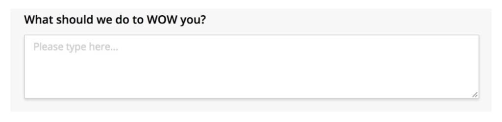 nps question survey