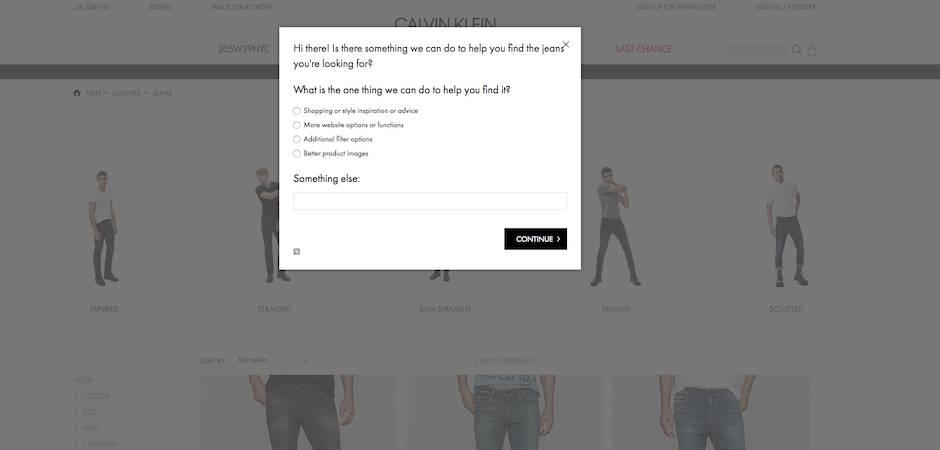 website feedback questions