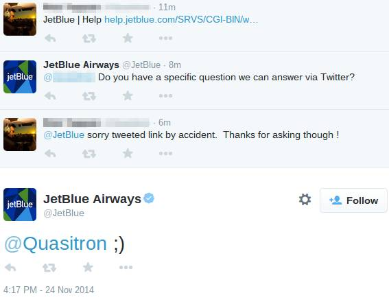 online reputation - JetBlue