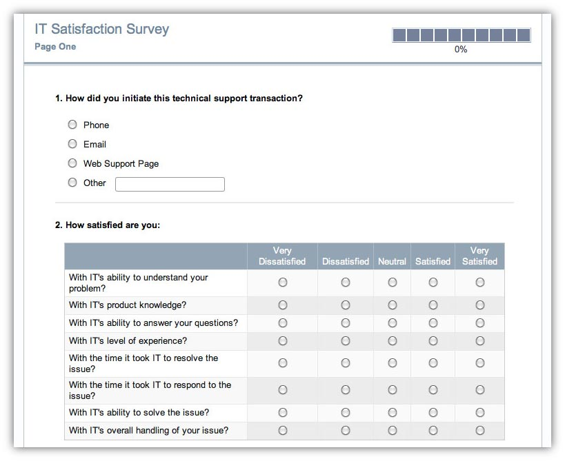 bad customer satisfaction survey example