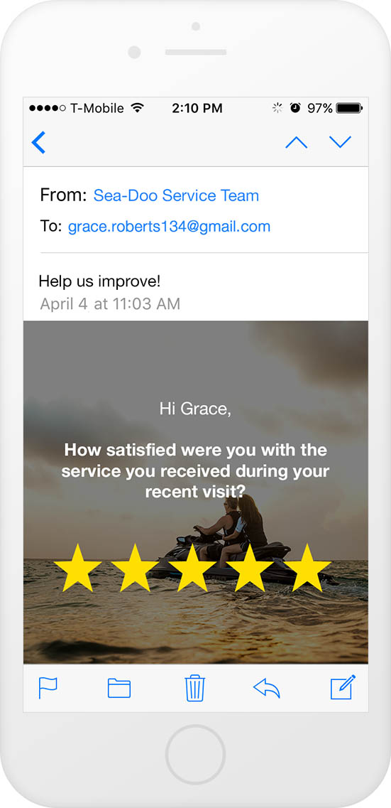 email surveys - embedded