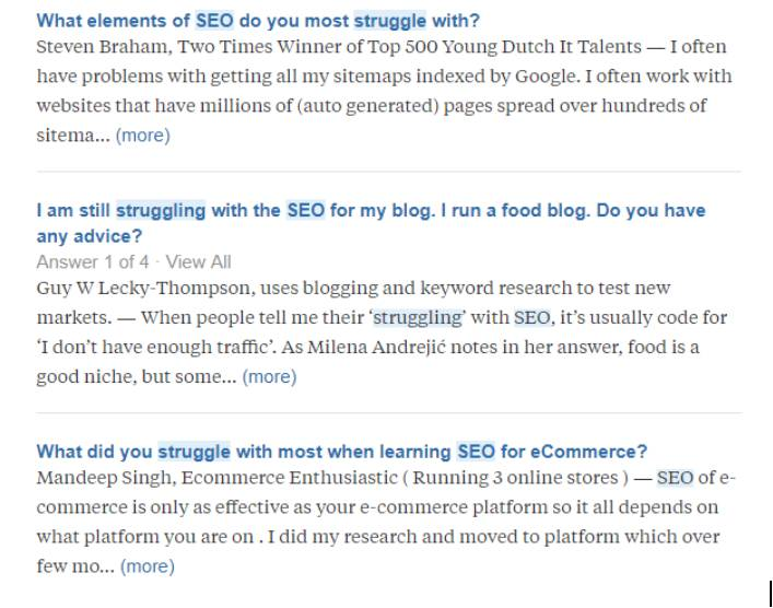 Deep Audience Research Methods to Improve Your Targeting- example-quora