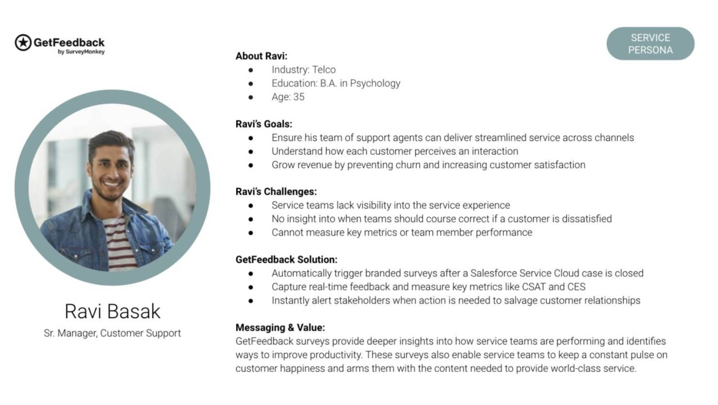 user research persona profile example