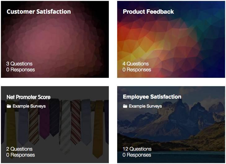 survey templates - send online surveys