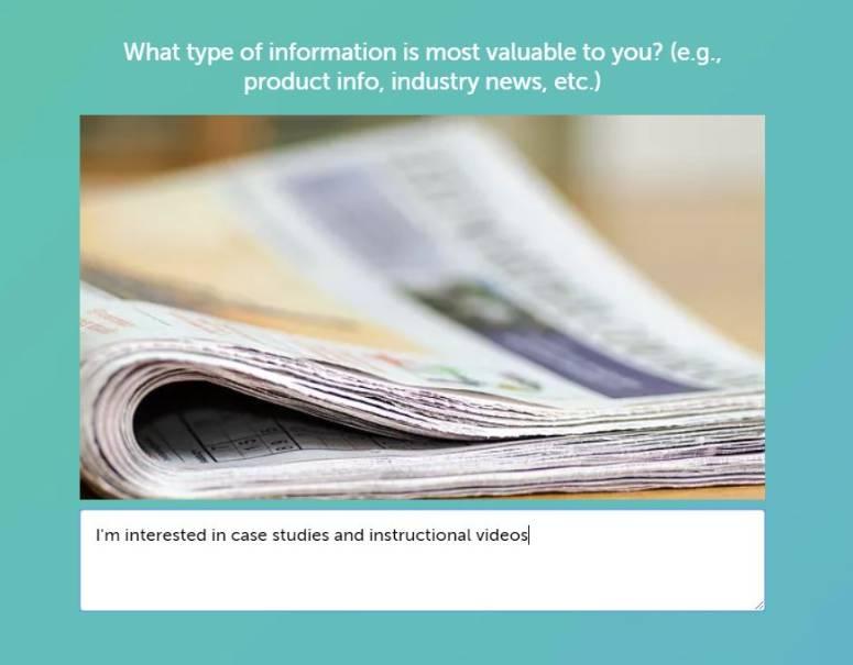 content marketing strategy customer survey type 1