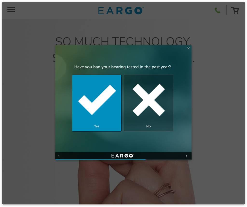 Eargo Website Surveys